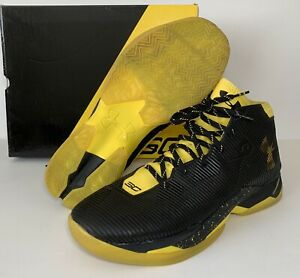 Under Armour Curry 2.5 Black Yellow Taxi Basketball Shoes 1274425 005 Mens 13
