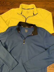 2- Nike Dri-Fit Running 14 Zip Long Sleeve Pullover Mens Large Shirts