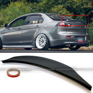For 08-15 Lancer EVO X 10 MR GSR JDM RS Style Rear Duck Trunk Wing Lip Spoiler