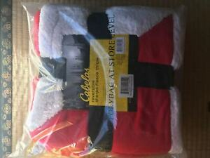 Cabela's reversible sherpa – fleece throw 50 x 70 inches Red/White - US SELLER