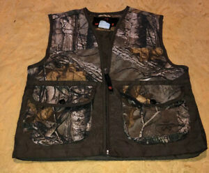 Game Winner Youth Unisex Sz ML Med Large RealTree Camo Bird Bag Hunting Vest