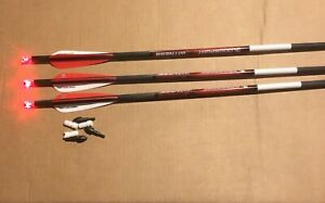 "3 Bloodsport Witness 20"" Crossbow Bolts For Barnett and More With Lighted Nocks"
