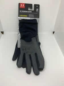 Womens Under Armour Coldgear Storm Black Winter Driving Water Resistant Gloves L