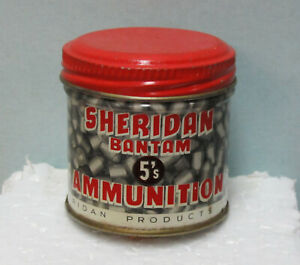 Vintage Sheridan 5 MM Air Gun Pellets with Original Tin Excellent Condition