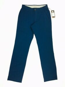 Under Armour Match Play Golf Pants Navy 30 x 32 1248089 408 Flat Front Straight $49.99