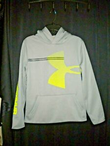 NWT UNDER ARMOUR BOYS YOUTH LARGE SILVER PULLOVER HOODIETOPJACKETSHIRT