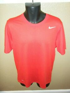 Men's Nike Dri-Fit Loose Fit Short Sleeve Shirt Red Size Medium