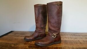 Men's Vtg 50s Leather HUDSON BAY HERTERS Snake Hunt Engineer Motorcycle Boots 8D