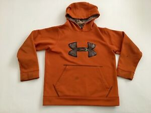 UNDER ARMOUR Youth YMD Loose Pullover Hoodie Orange Camo