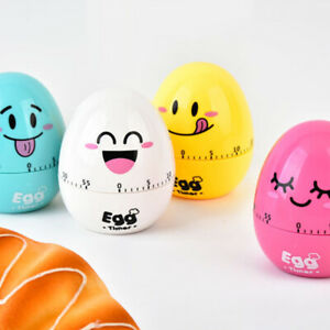 Kitchen Timer Cartoon Egg Shaped 60Minutes Cooking Mechanical Countdown Alarm rt