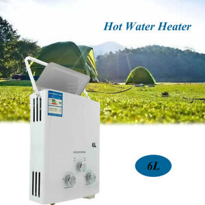 6L Tankless Hot Water Heater Portable Propane Gas RV Camper Truck 2800Pa