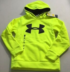 Under Armour Boys Big Logo Sweater Hoodie 1249148 Yellow Black 731 Size Youth S $19.99