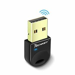 Techkey USB Bluetooth 4.0 Adapter Dongle for PC Laptop Computer Desktop Stereo