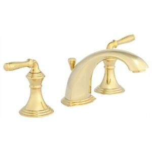 Devonshire 8 in. Widespread 2-Handle Low-Arc Bathroom Faucet in Vibrant Polished