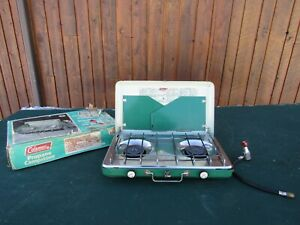 Vintage COLEMAN Propane Campstove Model 5424 with Cardboard Box