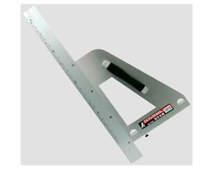 Shinwa Measurement Round Saw Guide Ruler L Angle 600mm Left-handed 77805
