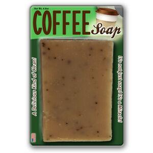 Coffee Soap, Handcrafted Bath Soap Made with Coffee Grounds, Spa, Luxury, Java