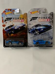 2019 Hot Wheels Forza Horizon 4 Porsche 911 GT2 &  Shelby Cobra Daytona Coupe