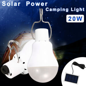 New 20W LED Camping Bulb Solar Tent Lamp Portable Outdoor Light Durable Hot