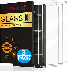 3 Pack For iPhone 12 11 Pro 8 7 6s Plus X Xs XR Tempered GLASS Screen Protector