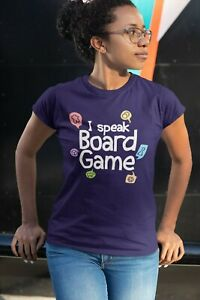 I Speak Board Game T shirts for board game geeks gamers and tabletop game night $24.99