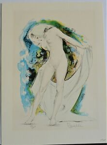 PAUL SECKEL RAVELLE (1918) VINTAGE LITHOGRAPH SIGNED NUMBERED NUDE WOMAN