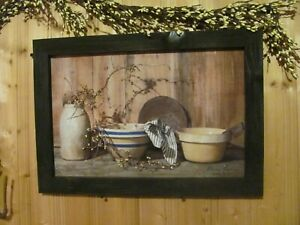 Primitive Rustic country Framed Art Print by Billy Jacobs Home Cookin 14x20 $32.95