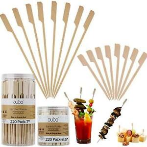 Bamboo Skewers Toothpicks for Appetizer Picks – 3.5 & 7 inch (Pack of 440) Woode