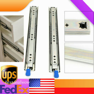 Heavy Duty Drawer Slides with Lock 18quot; 40quot; Full Extension Ball Bearing 1 Pair