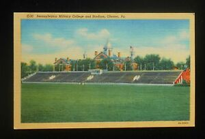 1940s Pennsylvania Military College and Stadium Old Main Chester PA Delaware Co $7.14