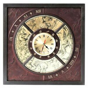 Deluxe Wooden Leather Handmade Wall Clock Home Decor