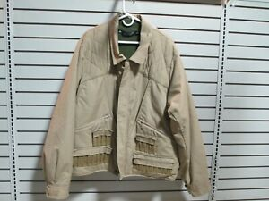 Pre Owned Men's COLUMBIA UPLAND HUNTING COAT Tan Zip Out Fleece Lining Size 3XL