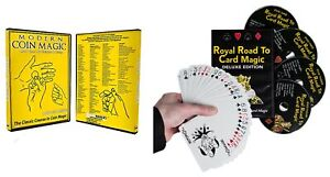 Modern Coin Magic amp; Royal Road to Card Magic Deluxe 2 DVD Set Delands Deck