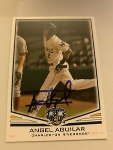 Angel Aguilar 2017 Signed Charleston Minor League On Card Auto Yankees Prospect $4.00