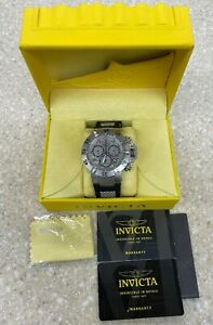 Invicta Subaqua Noma III Meteorite Swiss Mvt Chronograph Black 50mm Watch 25431