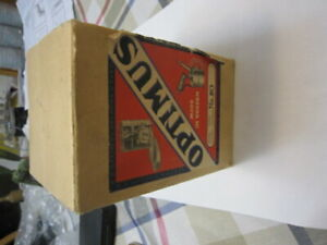 Optimus 80 Brass Camp Cooking Stove Sweden Mint in Box Instructions NOS