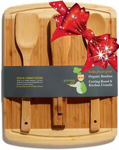 Cutting Board Gift Set Bonus Cooking Utensils den Spoon,Salad Mother's  Day