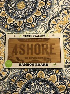 New Jersey State Plate Bamboo Board NEW