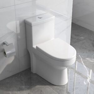 DeerValley Mini Compact Dual Flush One-Piece Elongated Toilet for Water Closet