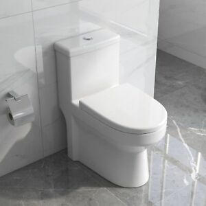 DeerValley One Piece Toilet Compact Elongated Dual Flush with Soft Closing Seat $219.99