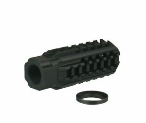 US Compact Skeleton Low Concussion Muzzle Brake Compensator 1 2x28 TPI For 223