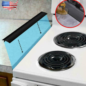 Silicone Stove Counter Gap Cover Oven Guard Spill Seal Slit Filler Kitchen US