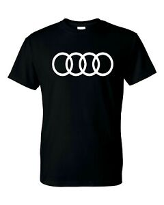 Audi Logo T Shirt Mens and Youth S XL Sizes
