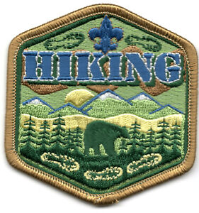 BSA HIKING Iron On Patch Scouts Cub Boy Camping