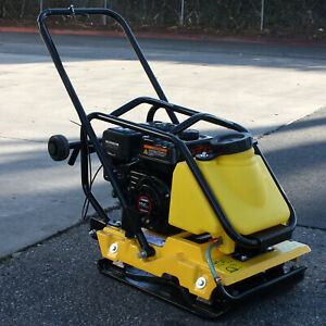 C110T 6.5HP Large Plate Walk Behind Vibratory Plate Compactor Rammer Water Tank $739.99