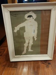 Vintage Picasso White Clown Le Petit Pieriot lithograph print great condition