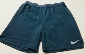 """Nike Men's Flex Stride 7"""" Brief Lined Running Shorts AT4014 Teal 428 Size L $32.99"""