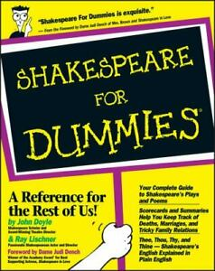 Shakespeare for Dummies by Ray Lischner; John Doyle