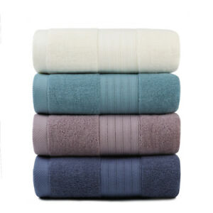 Set of 2 Luxury Pure Turkish Cotton Bath Towel Large Bath Sheet Thick Soft Plush