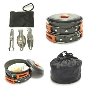 12 Piece Camping Cookware Set Portable Mess Kit By Sirius Survival